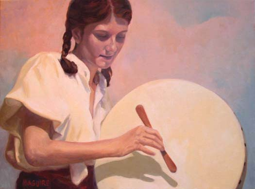 """The Bodhran Player"" by Barrie Maquire"